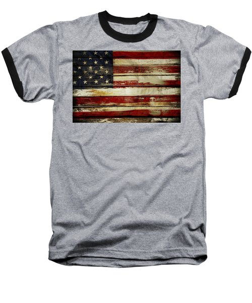 American Flag 54 Baseball T-Shirt
