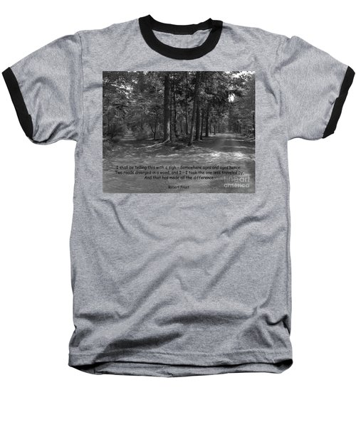 12a- Robert Frost  Baseball T-Shirt