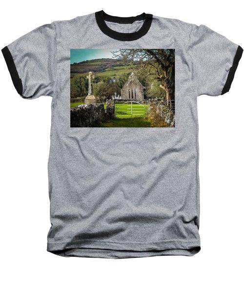 12th Century Cross And Church In Ireland Baseball T-Shirt