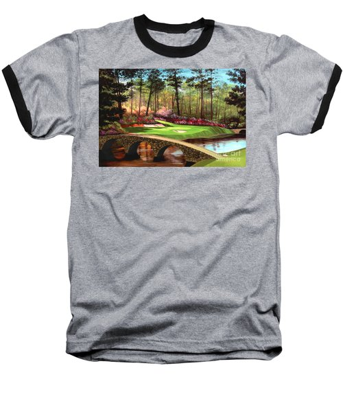 12th Hole At Augusta  Baseball T-Shirt by Tim Gilliland