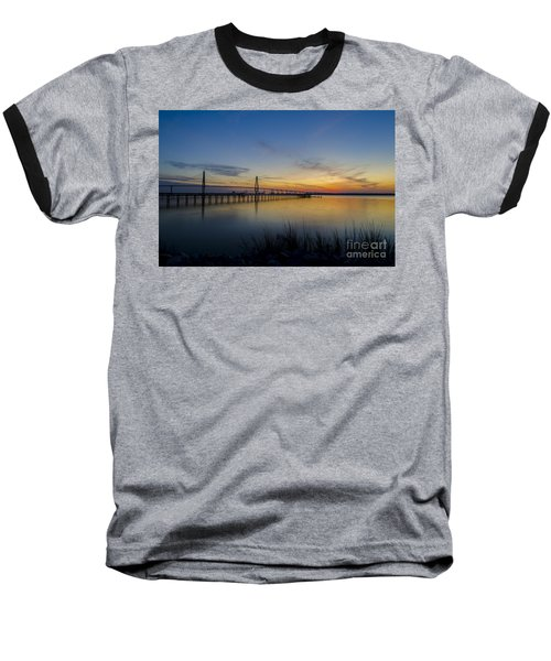 Baseball T-Shirt featuring the photograph Peacefull Hues Of Orange And Yellow  by Dale Powell