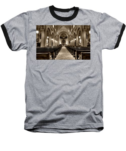 Church Of The Assumption Baseball T-Shirt by Amanda Stadther