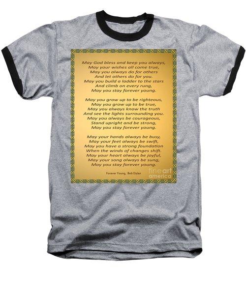 148- Bob Dylan Baseball T-Shirt by Joseph Keane