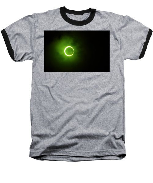15 January 2010 Solar Eclipse Maldives Baseball T-Shirt by Jenny Rainbow
