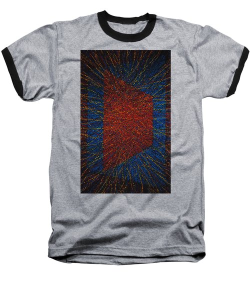 Baseball T-Shirt featuring the painting Mobius Band by Kyung Hee Hogg