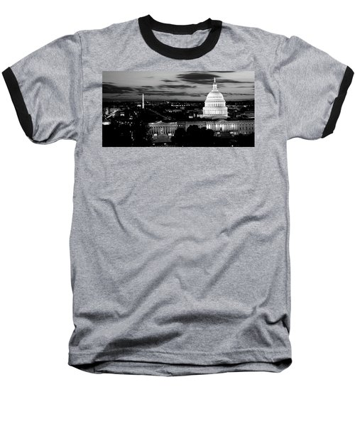 High Angle View Of A City Lit Baseball T-Shirt