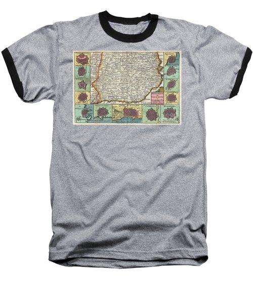 1747 La Feuille Map Of Catalonia Spain Baseball T-Shirt
