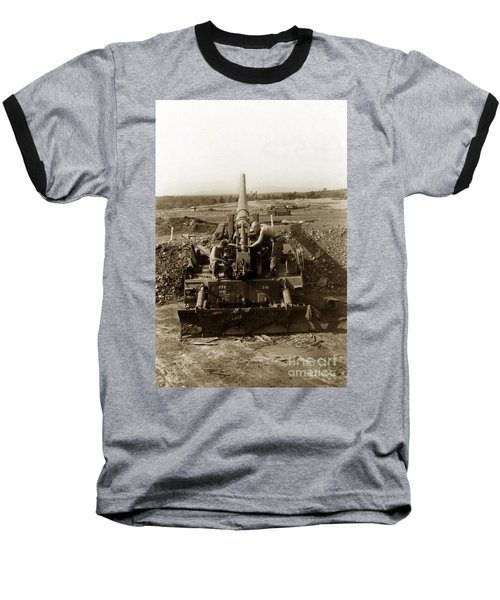 175mm Self Propelled Gun C 10 7-15th Field Artillery Vietnam 1968 Baseball T-Shirt