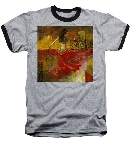 Abstract Belly Dancer 6 Baseball T-Shirt