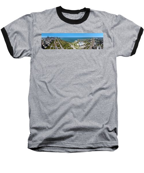 180 Degree View Of A City, Lake Baseball T-Shirt by Panoramic Images