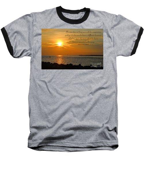 180- Henry David Thoreau Baseball T-Shirt by Joseph Keane