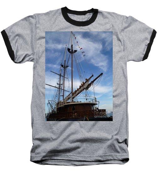 1812 Tall Ships Peacemaker Baseball T-Shirt by Lingfai Leung