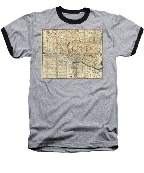 1849 Japanese Map Of Edo Or Tokyo Baseball T-Shirt