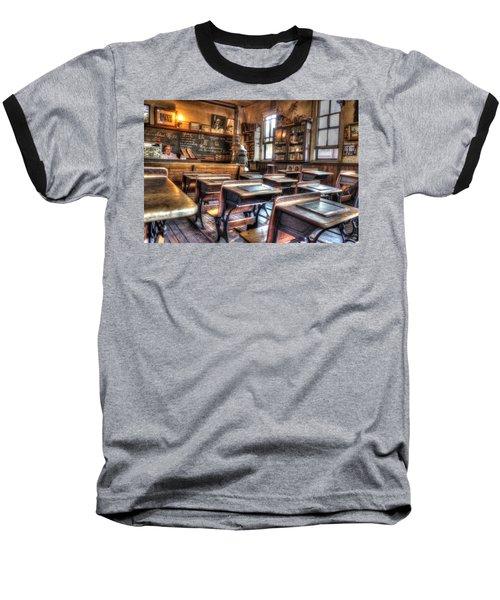 1879 School House - Knott's Berry Farm Baseball T-Shirt by Heidi Smith