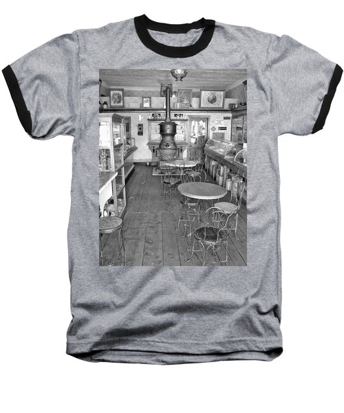 1880 Drug Store Black And White Baseball T-Shirt