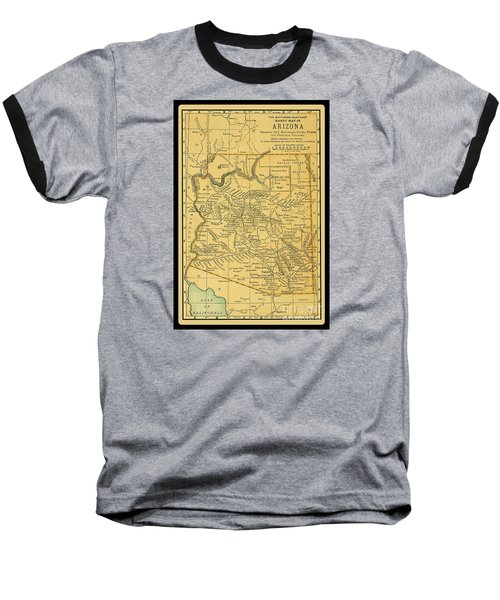 1891 Arizona Map Baseball T-Shirt