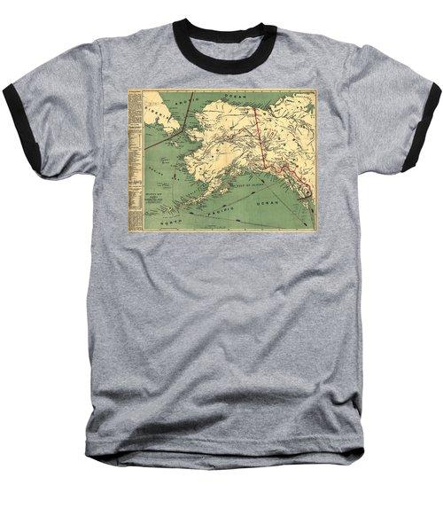 Baseball T-Shirt featuring the photograph 1897 Map Of Alaska by Charles Beeler