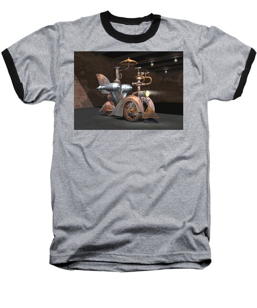 1898 Steam Scooter Baseball T-Shirt