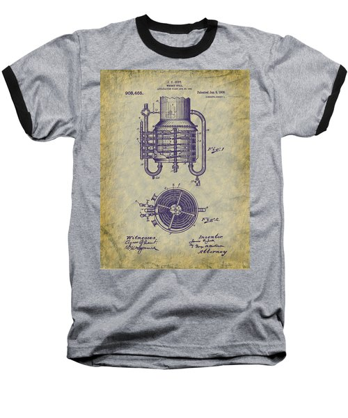 1909 Jett Whiskey Still Patent Baseball T-Shirt