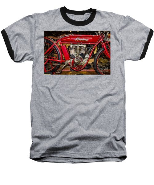 Baseball T-Shirt featuring the photograph 1915 Indian Model D1 by Paul Mashburn