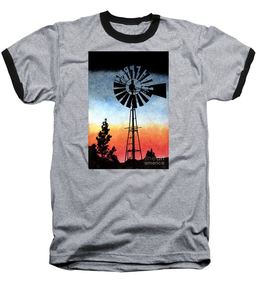 Nostalgia High Tech Baseball T-Shirt by R Kyllo