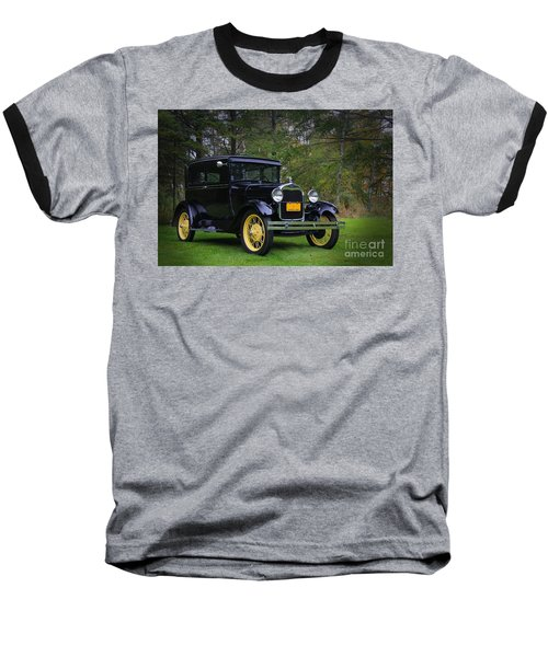 1928 Ford Model A Tudor Baseball T-Shirt by Davandra Cribbie