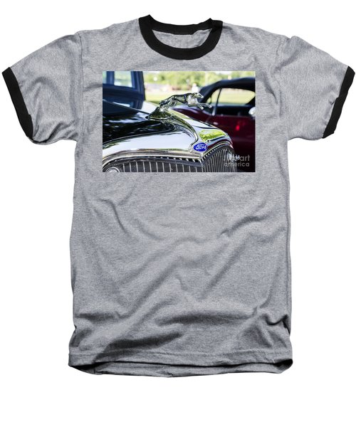 Baseball T-Shirt featuring the photograph 1933 Ford Hood Ornament by Paul Mashburn