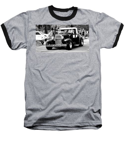 Baseball T-Shirt featuring the photograph 1934 Classic Car In Black And White by Ester  Rogers