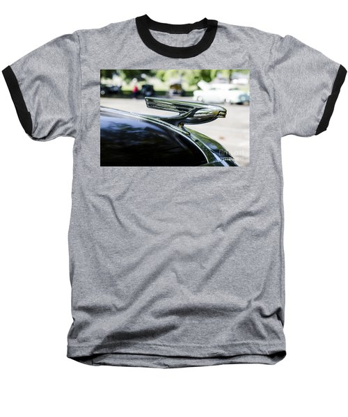 Baseball T-Shirt featuring the photograph 1937 Chevy Hood Ornament by Paul Mashburn