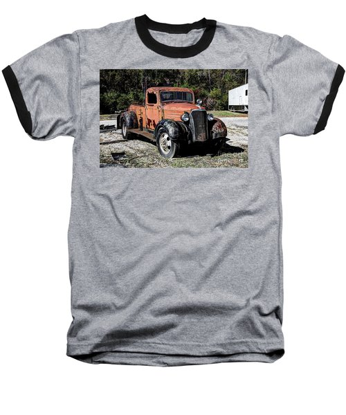 Baseball T-Shirt featuring the photograph 1937 Chevy Wrecker by Paul Mashburn