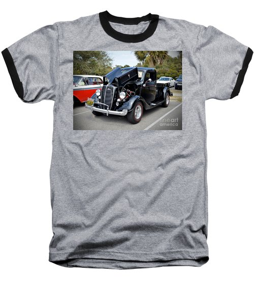 Baseball T-Shirt featuring the photograph 1937 Ford Pick Up by Kathy Baccari
