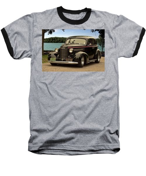 1937 Oldsmobile Custom Sedan Hot Rod Baseball T-Shirt