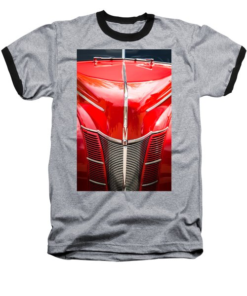 1940 Ford Deluxe Coupe Grille Baseball T-Shirt