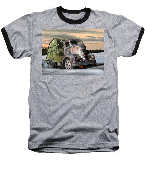 1940 Gmc Garbage Truck Baseball T-Shirt by Stuart Swartz