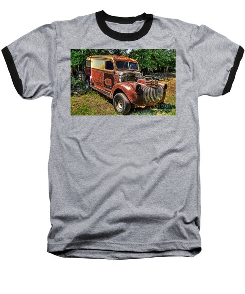 Baseball T-Shirt featuring the photograph 1941 Chevy Van by Paul Mashburn
