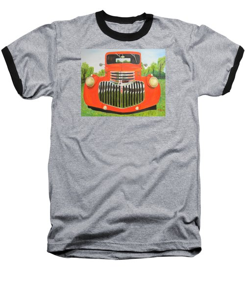 1946 Red Chevy Truck Baseball T-Shirt