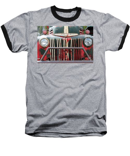 1946 Vintage Ford Truck Baseball T-Shirt by Fiona Kennard