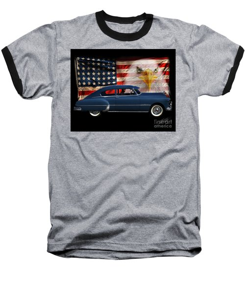 Baseball T-Shirt featuring the photograph 1949 Pontiac Tribute Roger by Peter Piatt
