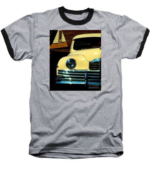 Baseball T-Shirt featuring the photograph 1950 Yellow Packard by Janette Boyd