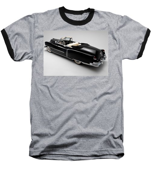 Baseball T-Shirt featuring the photograph 1950 Black Cadillac Convertible by Gianfranco Weiss