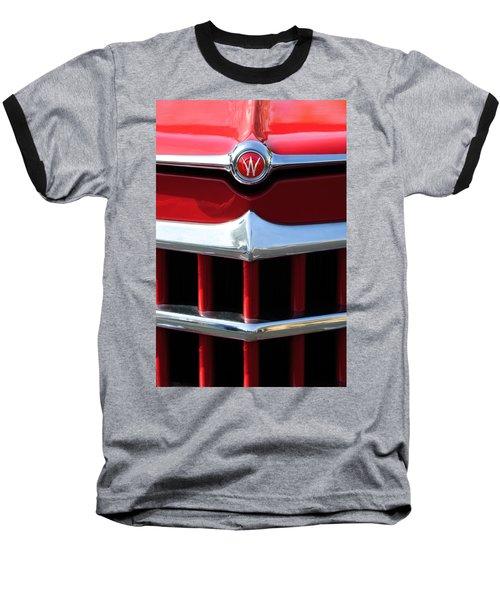 1950 Willys Overland Jeepster Hood Emblem Baseball T-Shirt