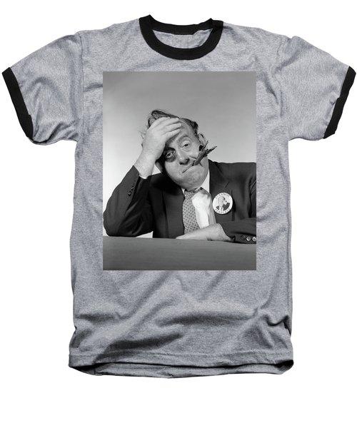 1950s 1960s Politician With Black Eye & Baseball T-Shirt