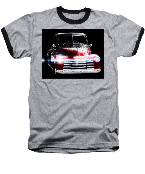 1950's Chevrolet Truck Baseball T-Shirt by Aaron Berg