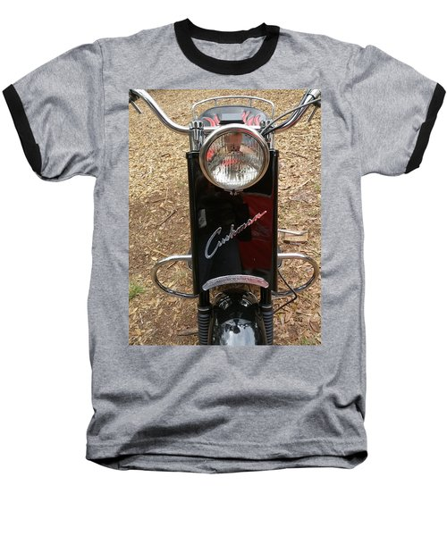 Baseball T-Shirt featuring the photograph 1950's Cushman by Fortunate Findings Shirley Dickerson