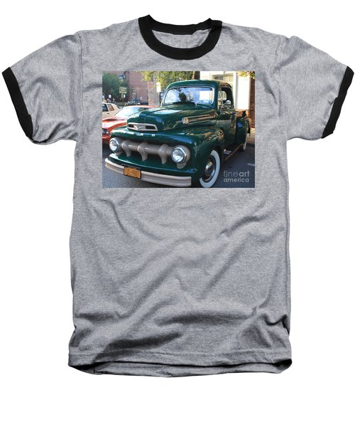 1952  Ford Pick Up Truck Front And Side View Baseball T-Shirt by John Telfer