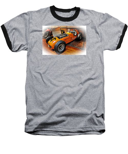 1952 Indy 500 Roadster Baseball T-Shirt by Mike Martin