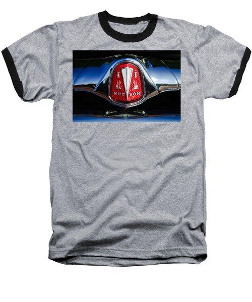 1953 Hudson Hornet Sedan Emblem Baseball T-Shirt