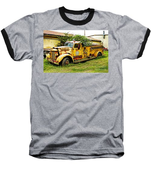 Baseball T-Shirt featuring the photograph 1954 Federal Fire Engine by Paul Mashburn