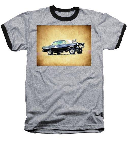 1955 Chevy Gasser Baseball T-Shirt by Steve McKinzie