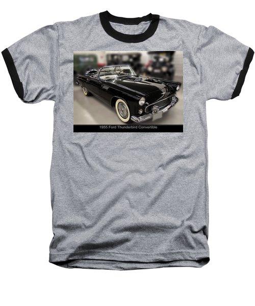1955 Ford Thunderbird Convertible Baseball T-Shirt by Chris Flees